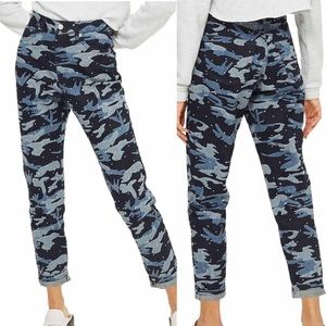 Topshop Moto Mom Jeans High Waisted Camouflage